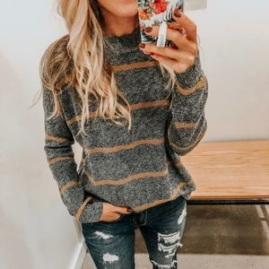 ⚡️AE | Striped Jegging Pullover Sweater